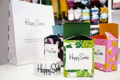 colorful retail bags and boxes