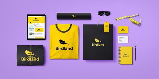 black and yellow birdland shirts and notebooks