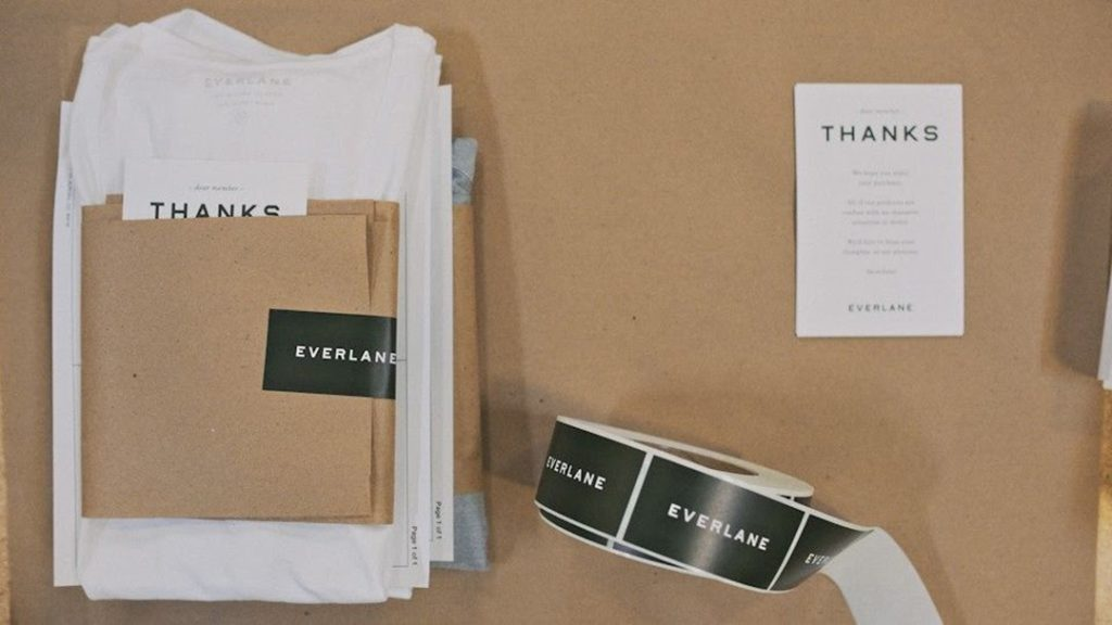brown and white packaging