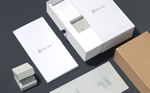white packaging boxes in different sizes