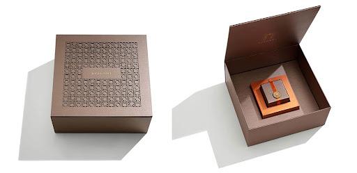 brown Bulgari wood boxes